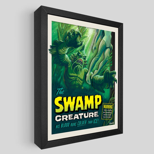 Swamp Creature Shadowbox Art