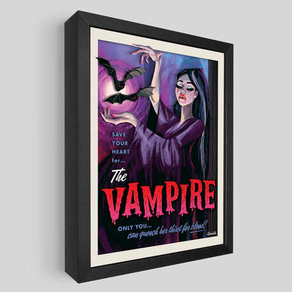 Vampire Shadowbox Art