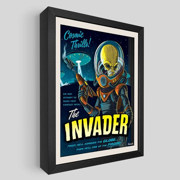 The Invader Shadowbox Art