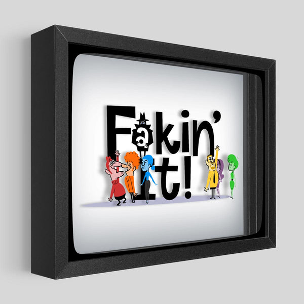 Fakin' It Shadowbox Art