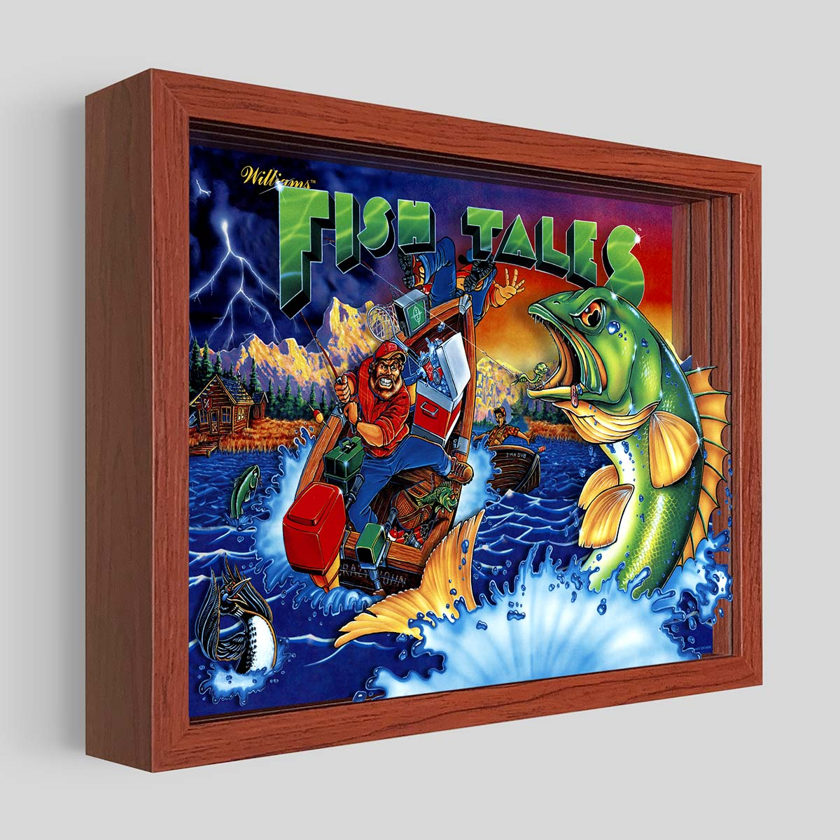 Fish Tales Shadowbox Art