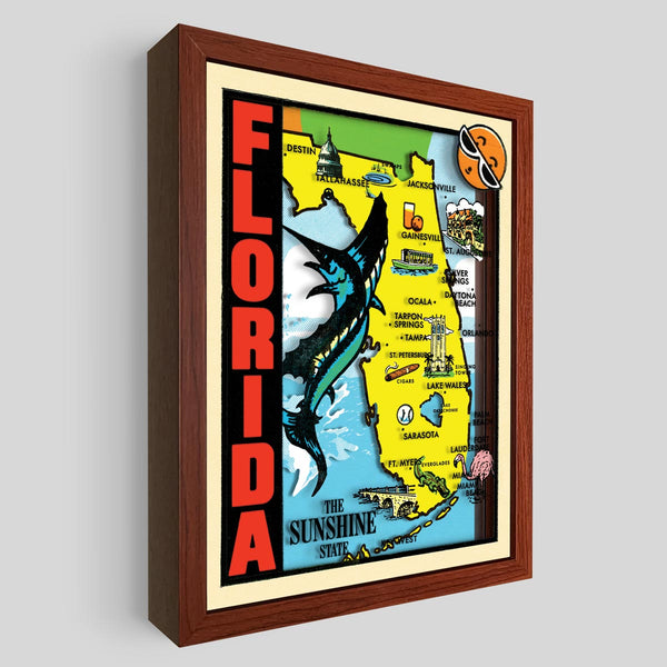 Florida Shadowbox Art