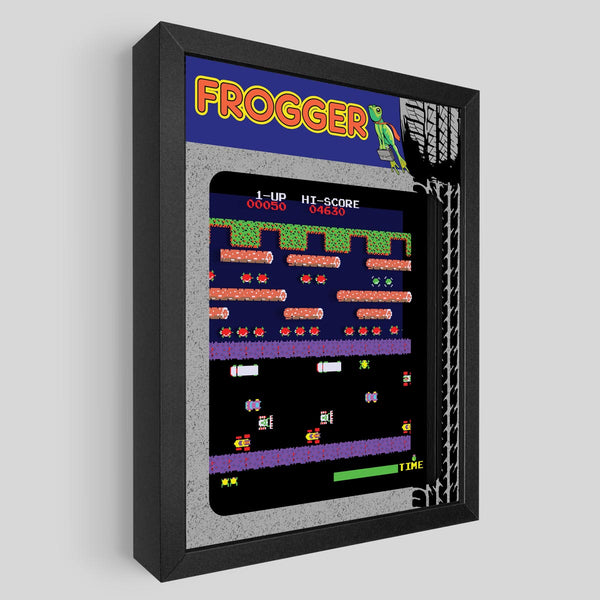 Frogger Shadowbox Art