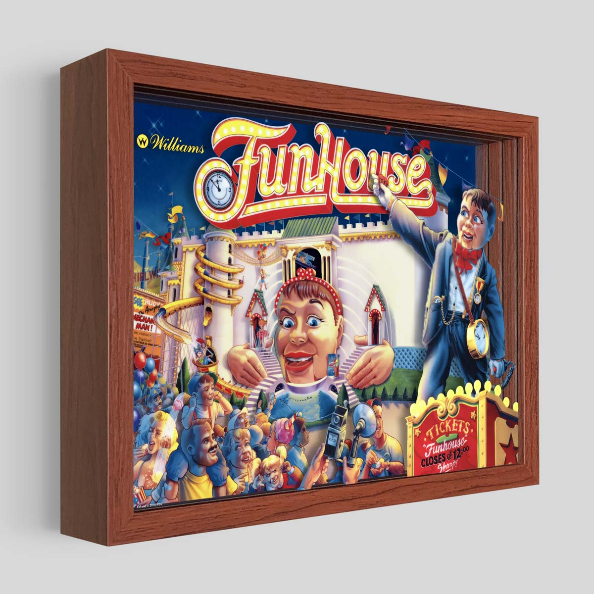 Funhouse Shadowbox Art