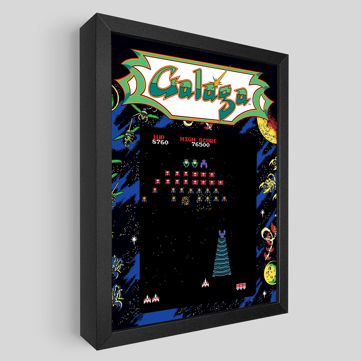 Galaga Shadowbox Art