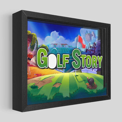 Golf Story Shadowbox Art