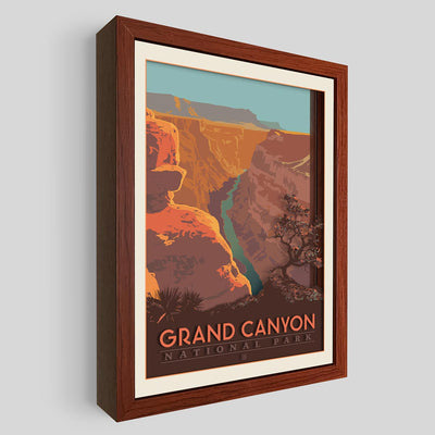 Grand Canyon National Park Shadowbox Art