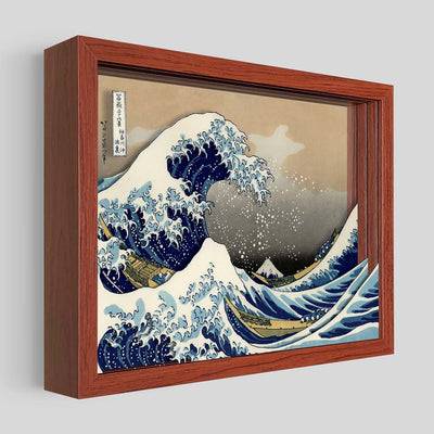 The Great Wave Shadowbox Art