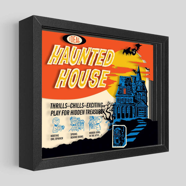 Haunted House Boardgame Shadowbox Art