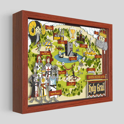 Holy Grail Shadowbox Art