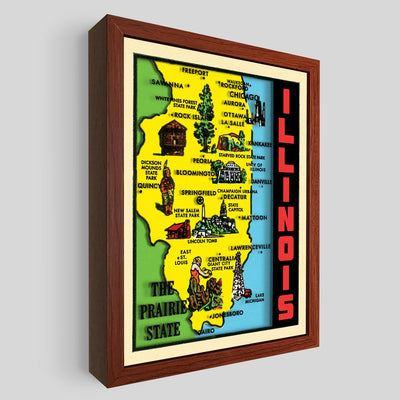 Illinois Shadowbox Art