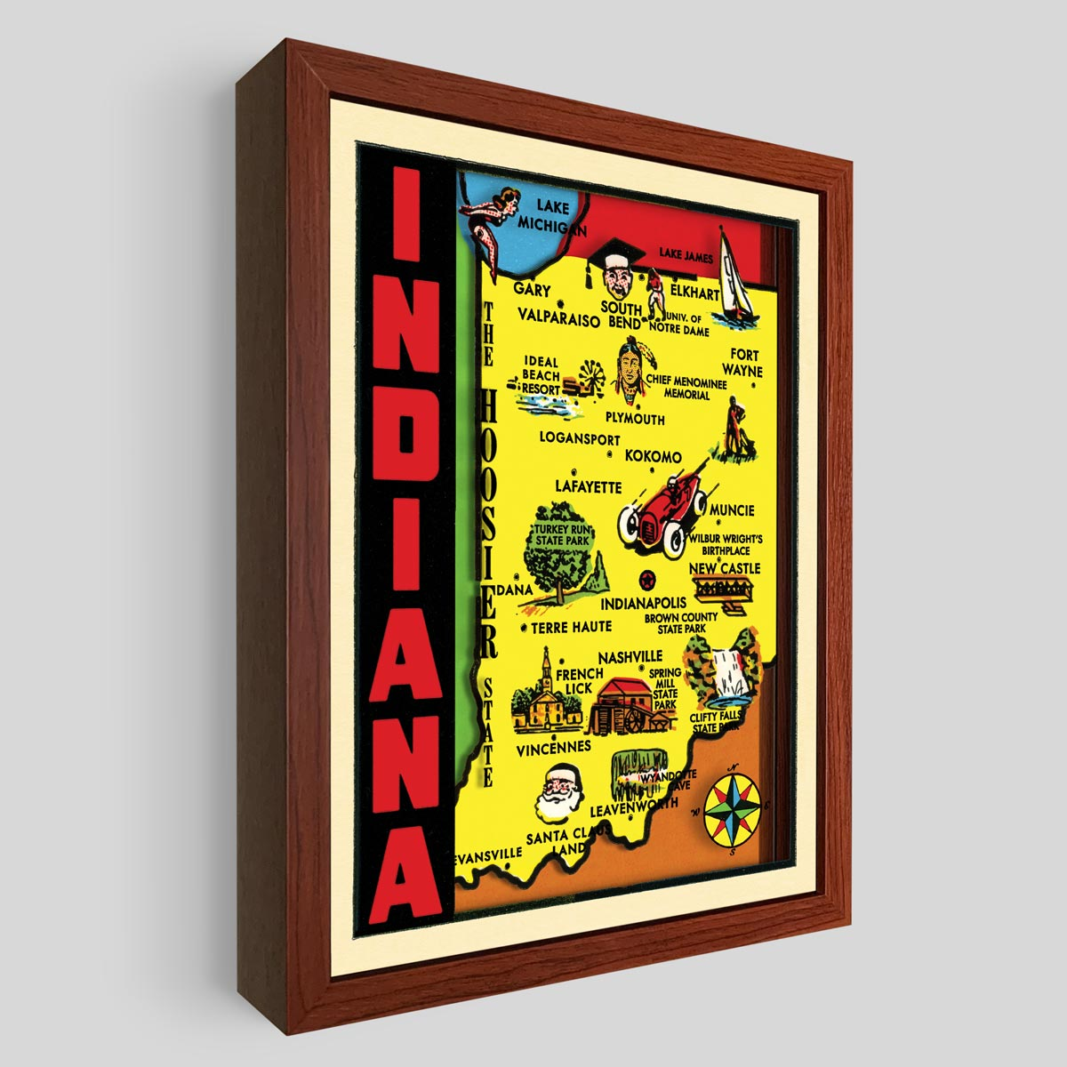 Indiana Shadowbox Art