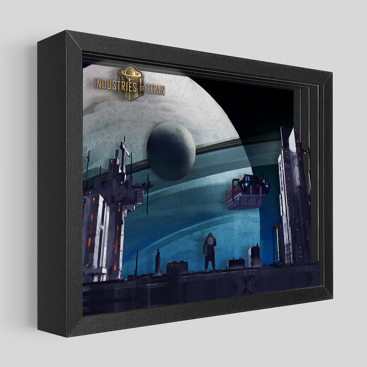 Industries of Titan Shadowbox Art