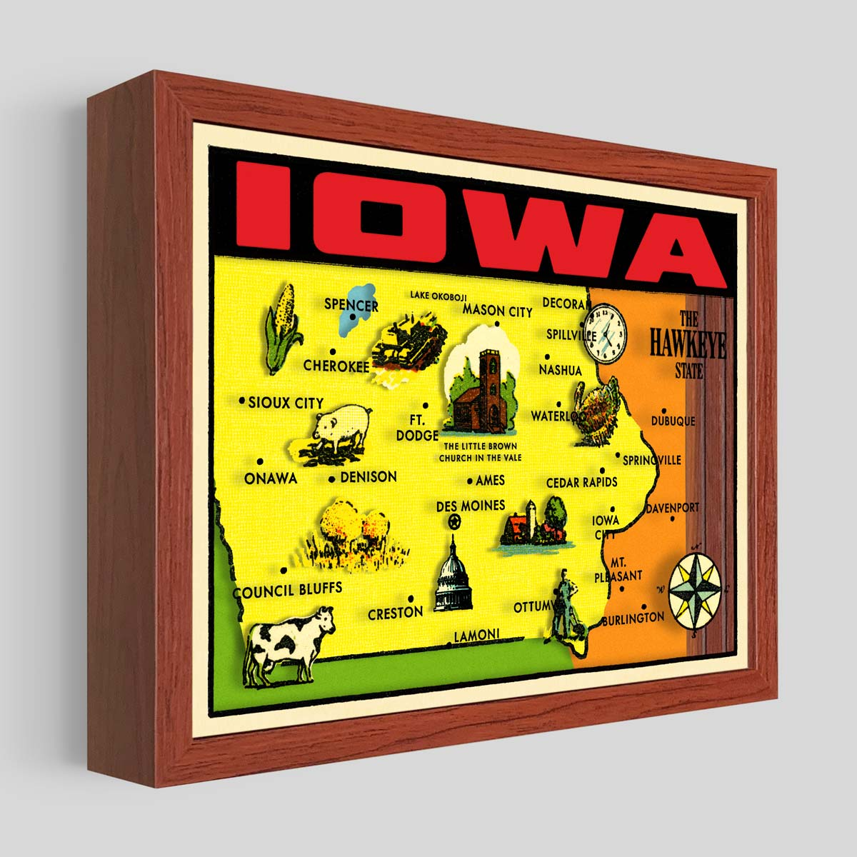 Iowa Shadowbox Art