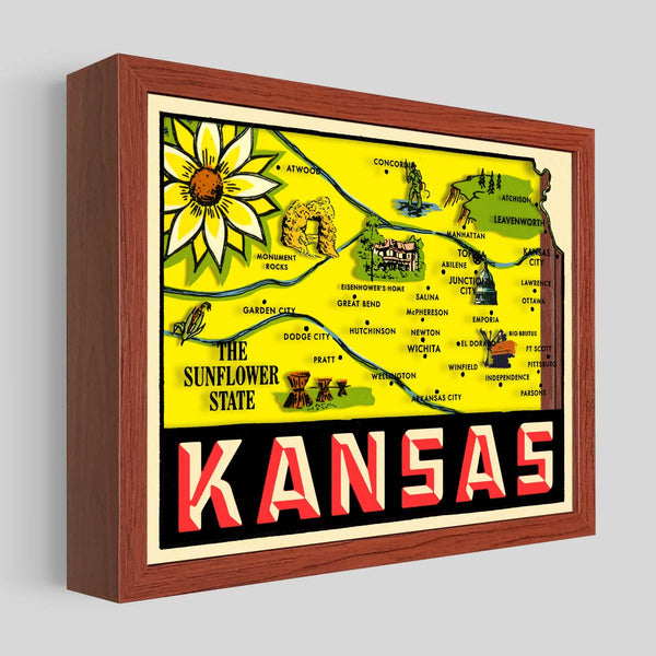 Kansas Shadowbox Art