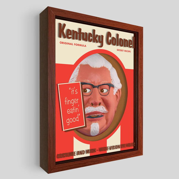 Kentucky Colonel Shadowbox Art