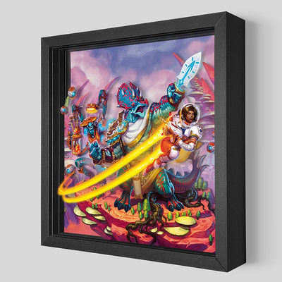 KeyForge Worlds Collide Shadowbox Art