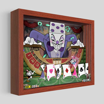 Cuphead King Dice Shadowbox Art