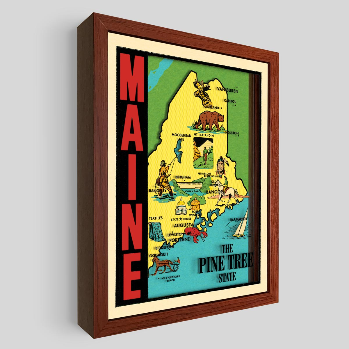 Maine Shadowbox Art
