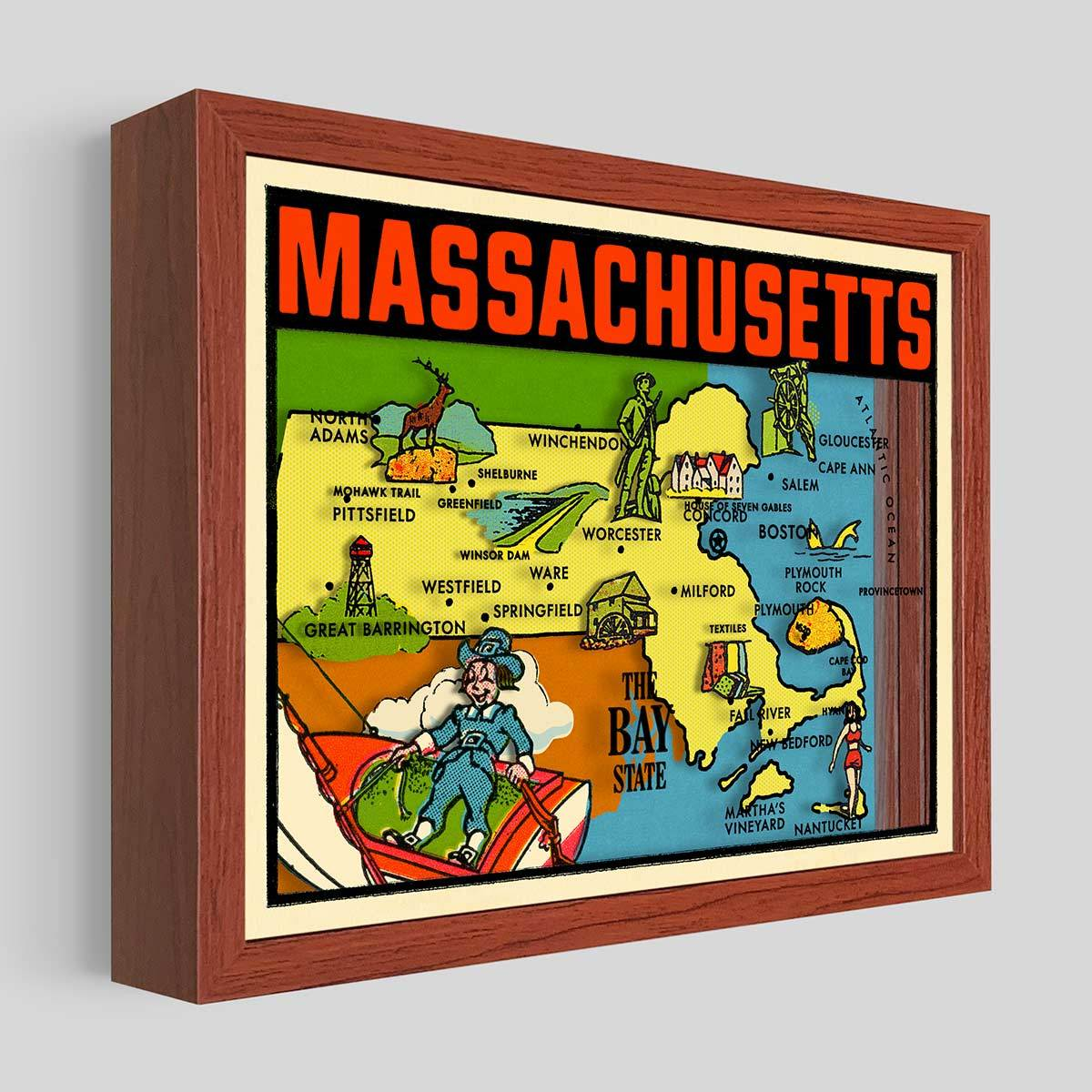 Massachusetts Shadowbox Art