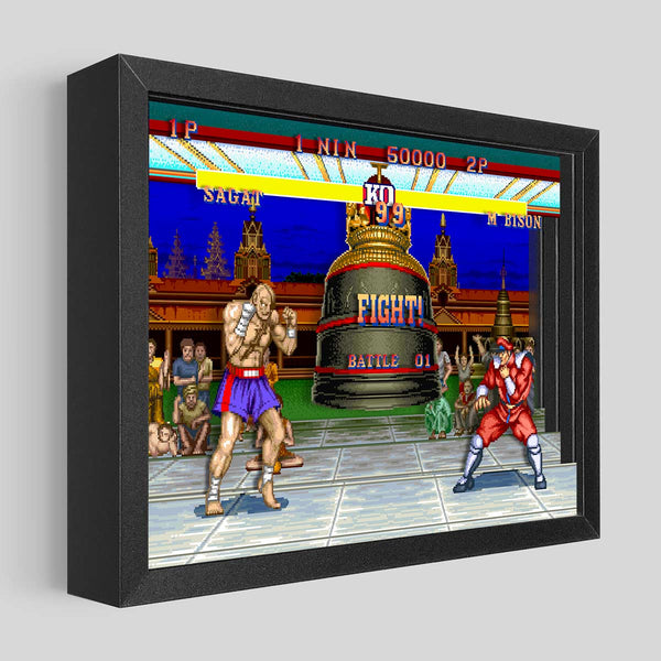 Street Fighter Shadowbox Art - M. Bison vs Sagat