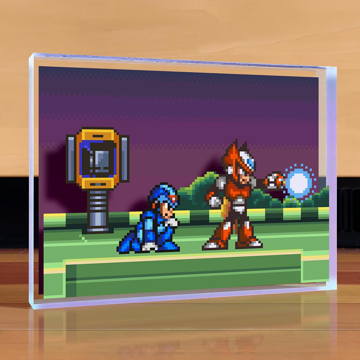 Mega Man Meets Zero Desktop Art