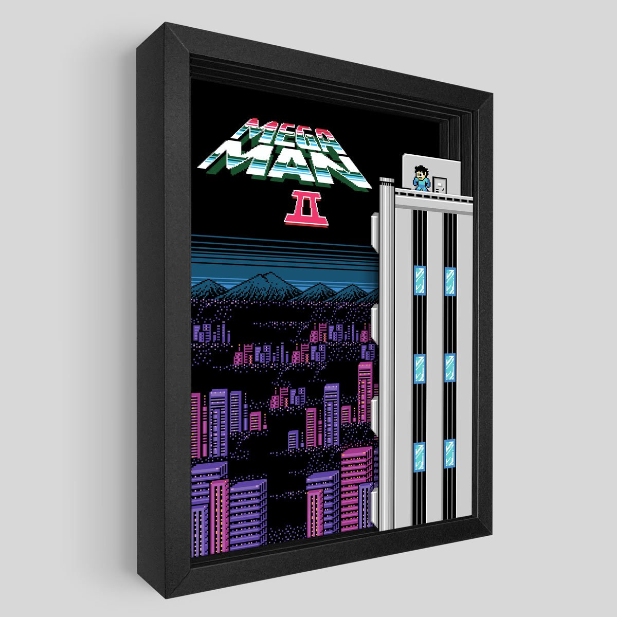 Mega Man 2 Shadowbox Art