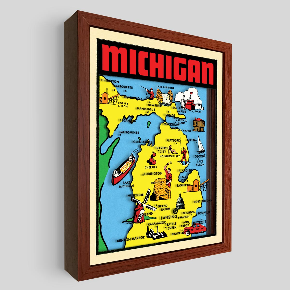 Michigan Shadowbox Art