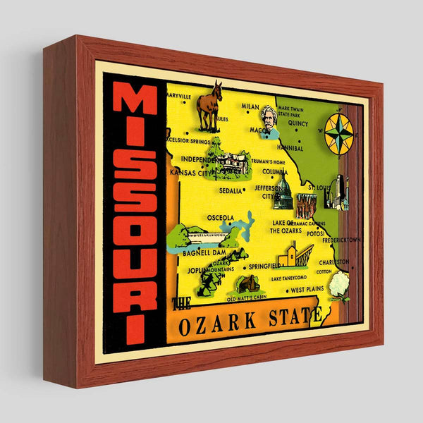 Missouri Shadowbox Art