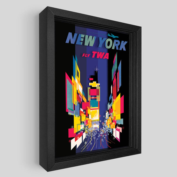 TWA New York Shadowbox Art