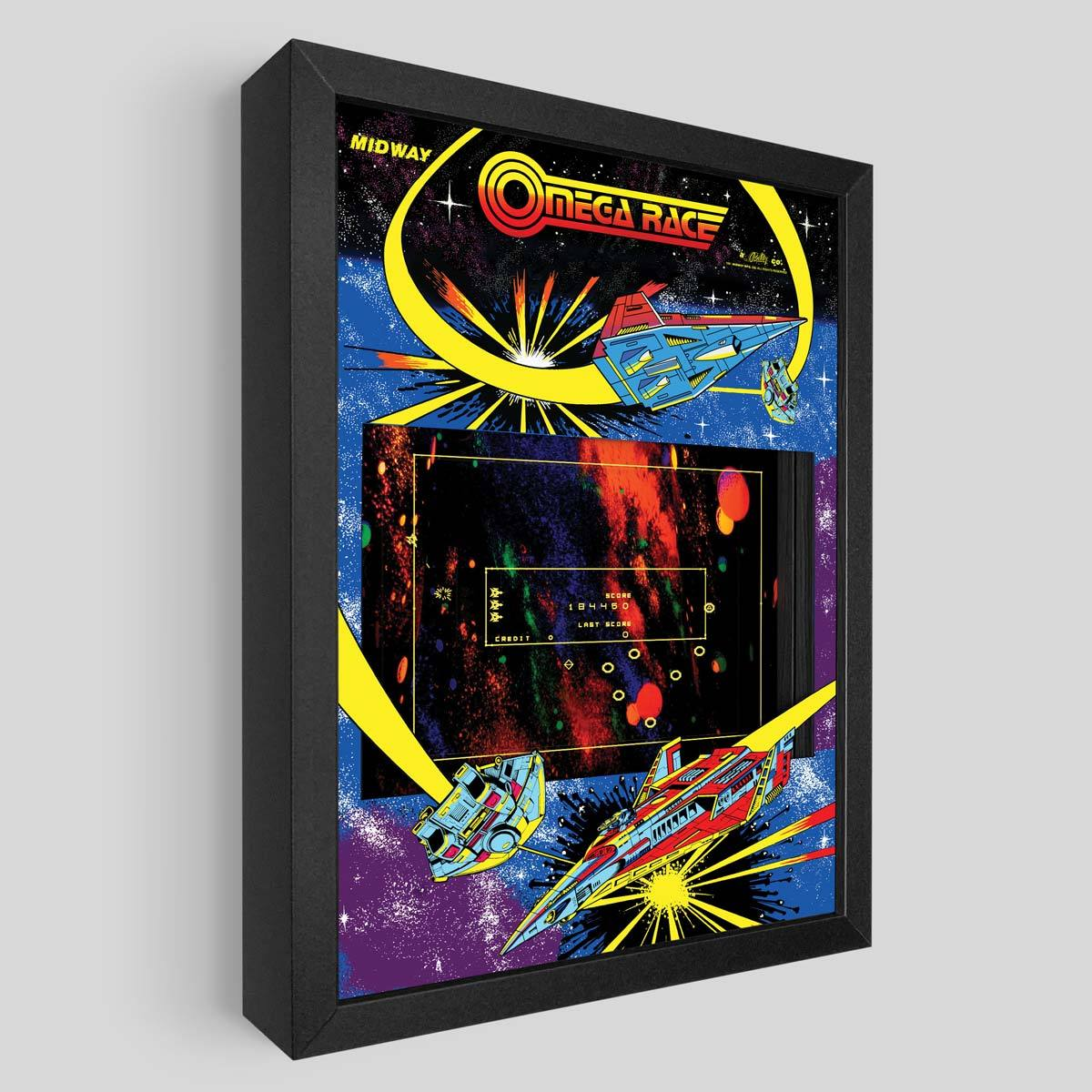 Omega Race Shadowbox Art