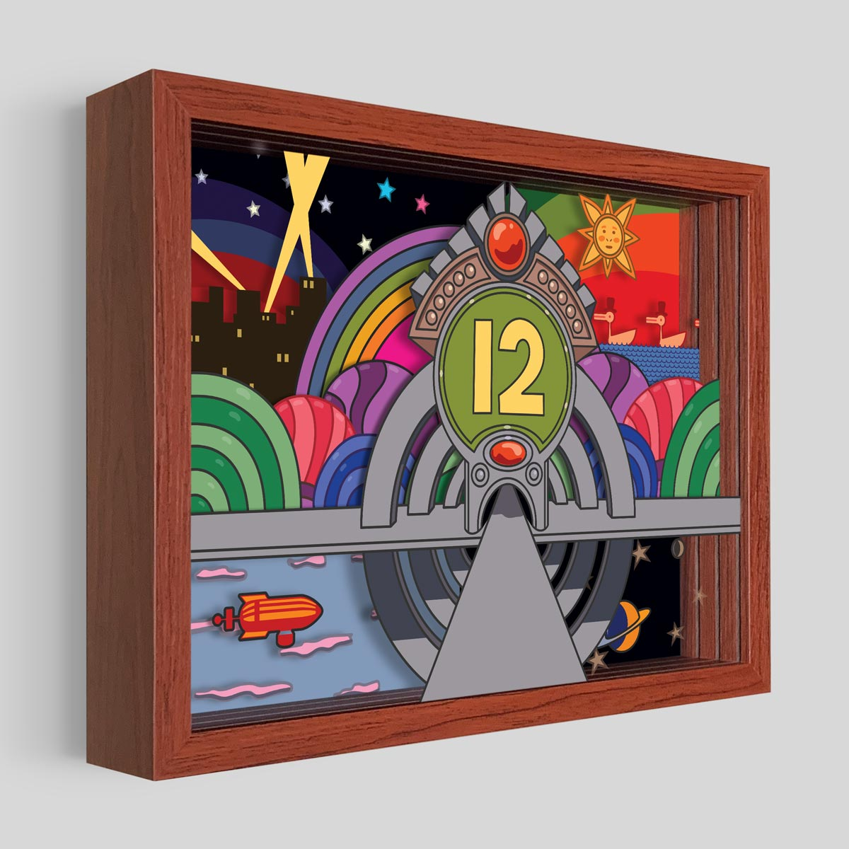 Pinball Number 12 Shadowbox Art