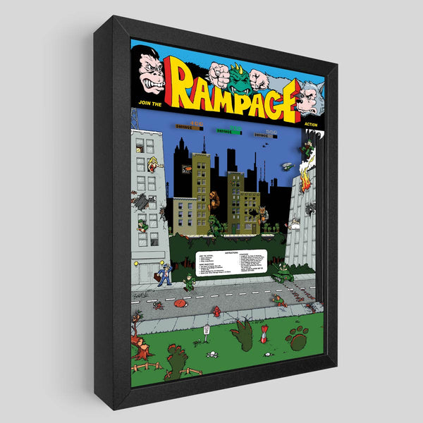 Rampage Shadowbox Art