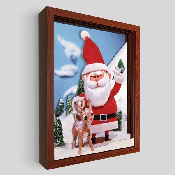 Santa Shadowbox Art