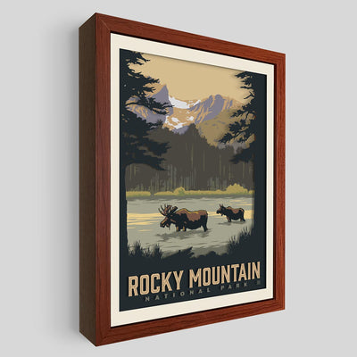 Rocky Mountain National Park Shadowbox Art
