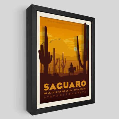 Saguaro National Park Shadowbox Art