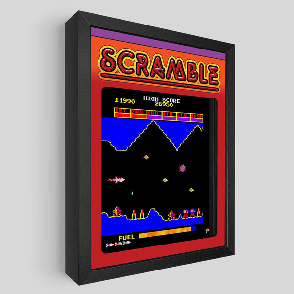 Scramble Shadowbox Art