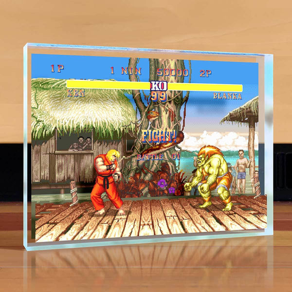 Street Fighter Desktop Art - Blanka vs Ken