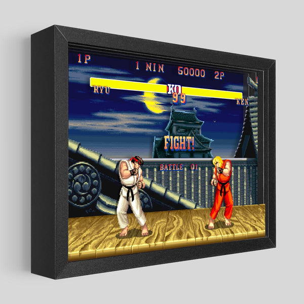 Street Fighter Shadowbox Art - Ryu vs. Ken