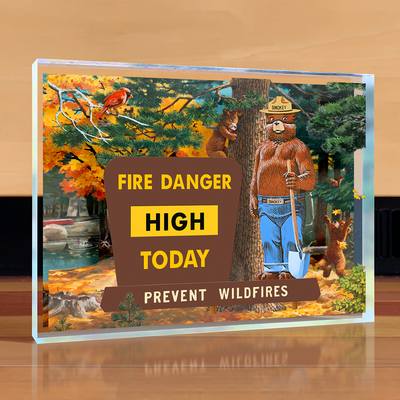 Smokey Bear Sign Desktop Art