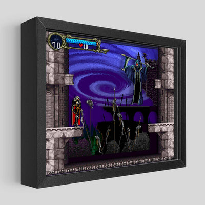 Castlevania SOTN Death Shadowbox Art