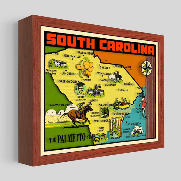South Carolina Shadowbox Art