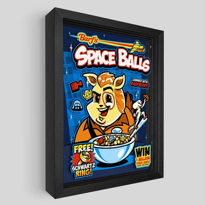 Space Balls Cereal Shadowbox Art