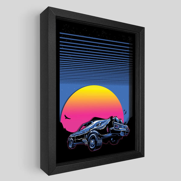 Synthwave Shadowbox Art