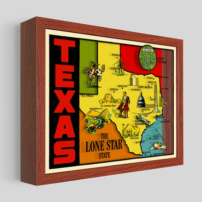 Texas Shadowbox Art