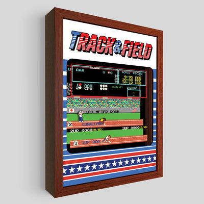Track & Field Shadowbox Art
