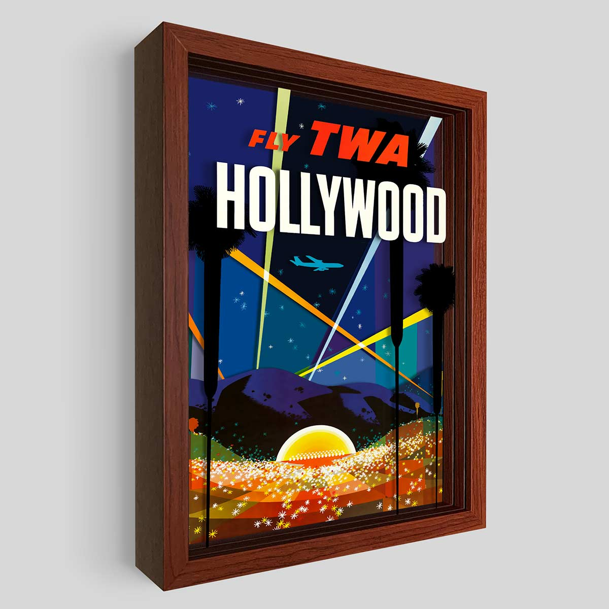 TWA Hollywood Shadowbox Art