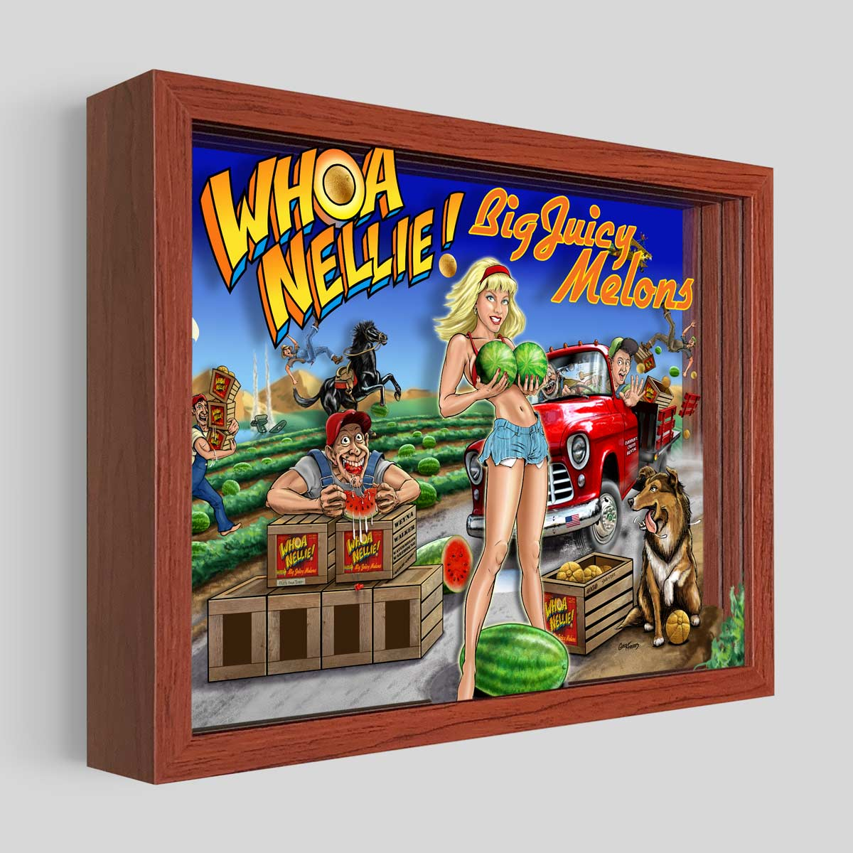 Whoa Nellie Shadowbox Art