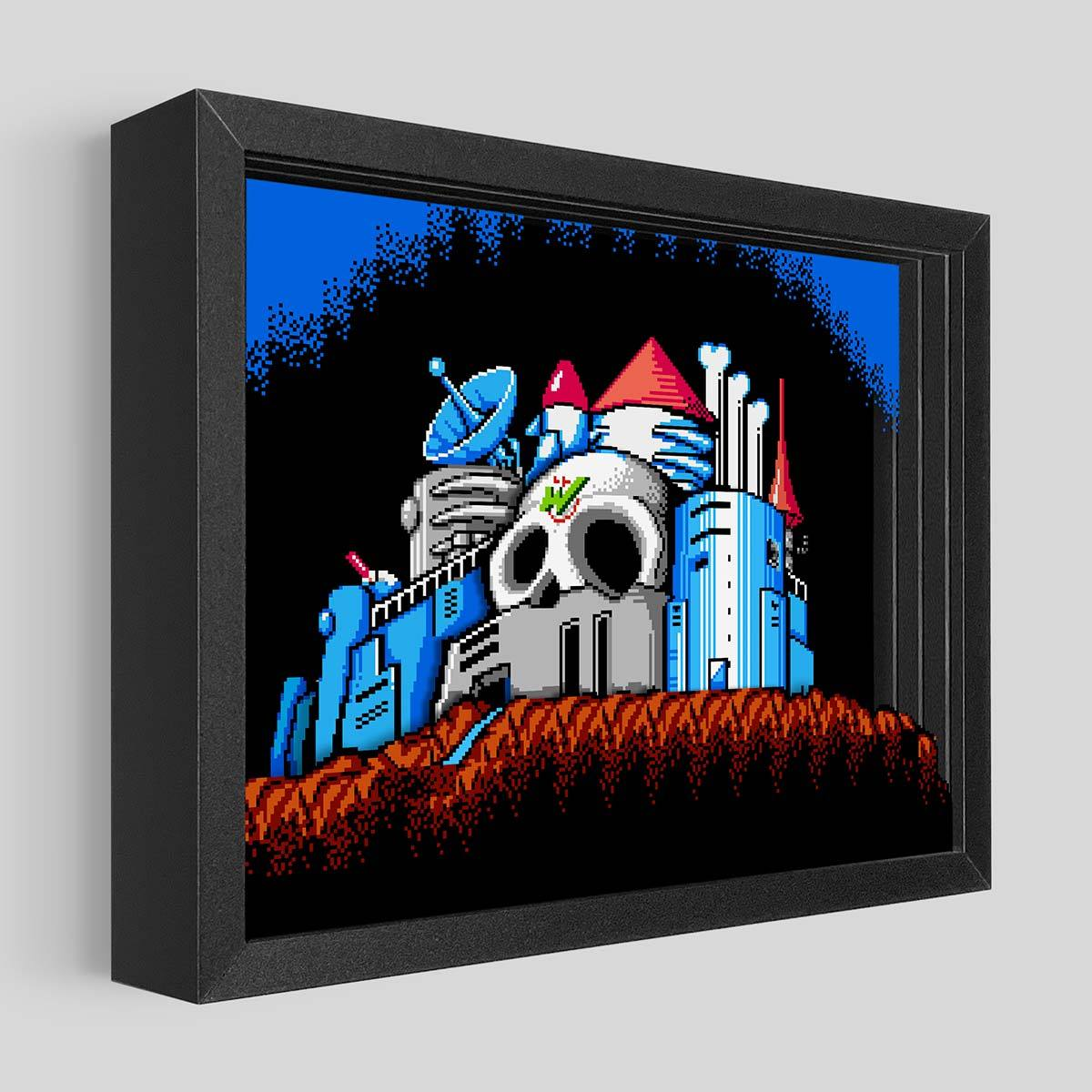 Mega Man 2 - Dr. Wily's Castle Shadowbox Art