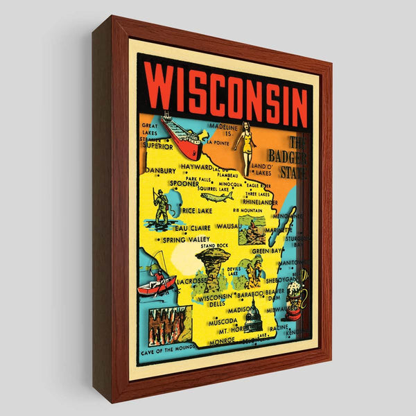 Wisconsin Shadowbox Art